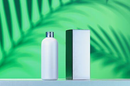 Cosmetic Bottle for cream, gel, lotion, dye. blank Beauty product package cardboard box. 3d rendering