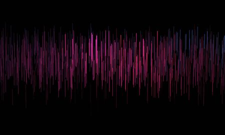 Music abstract background with multicolored dynamic waves. Sound waves template. music equalizer. 3d rendering Stock fotó