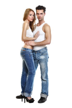 passionate couple: passionate couple on white background