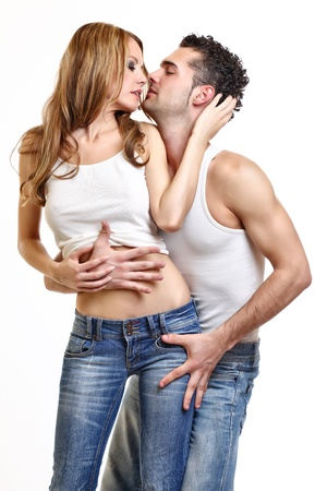 passionate couple: passionate couple love each other Stock Photo