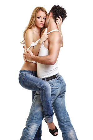 picture of a passionate couple Stock Photo