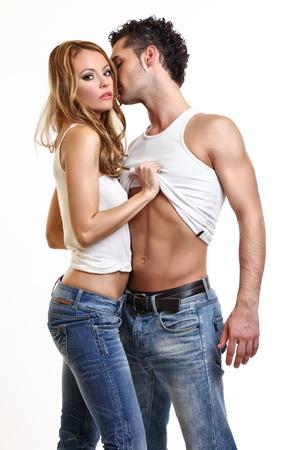 flirting: passionate couple