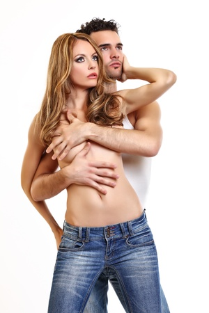 portrait of a sexy couple in studio Stock Photo - 10897828