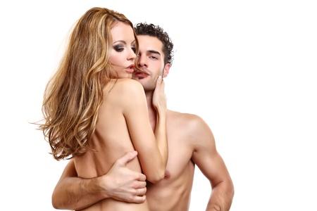 retrato de una pareja apasionada