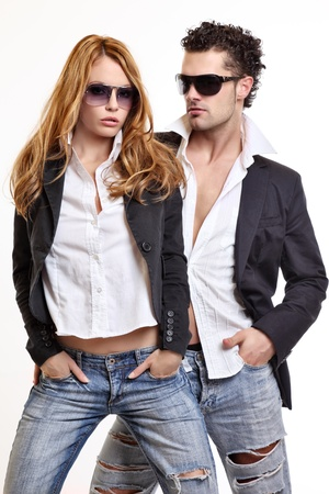 fashion couple Stock Photo