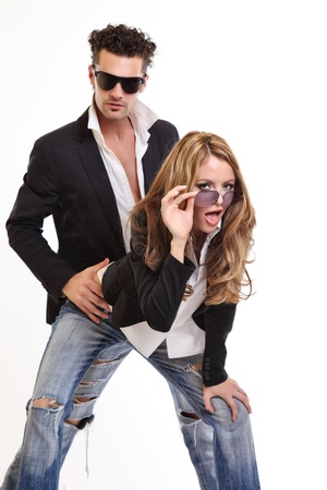 sexy funny: sexy couple flirting