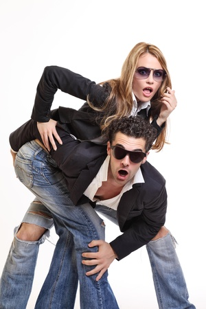 surprised young couple photo
