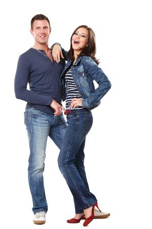 sexy jeans: imagen de una joven pareja feliz