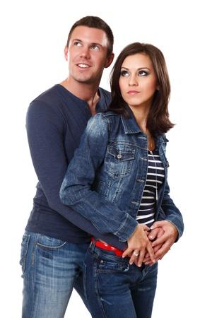 happy young couple in studio Stock Photo - 10933282