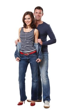 happy nice couple in studio Stock Photo - 10933306