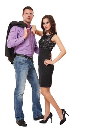 modelos posando: imagen de una elegante pareja