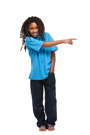 rasta boy isolated on white Stock Photo - 11453472