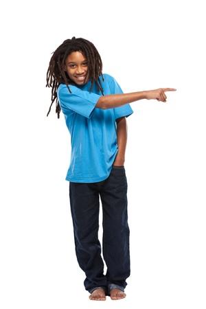 rasta boy isolated on white Stock Photo - 11453472