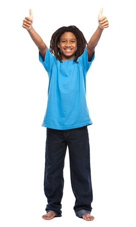 young african boy in studio Stock Photo - 11453477