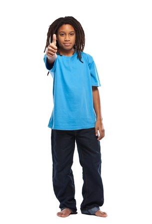 young african rasta boy in studio Stock Photo - 11453474