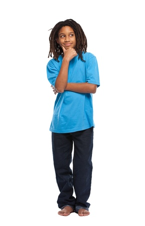 young african boy thinking in studio Stock Photo - 11453468
