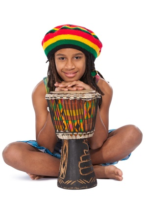 young rasta man in studio photo