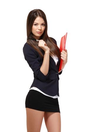 faldas: retrato de una mujer de negocios hermosa