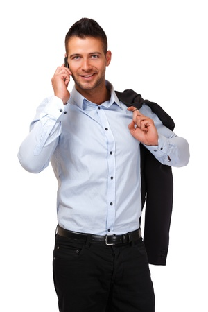 handsome man making a call photo