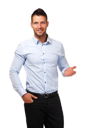 podnikatel: mladý podnikatel nerozumí něco Reklamní fotografie