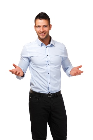 young adult man posing in studio photo