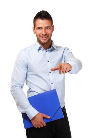 successful man posing in studio Stock Photo - 13746441
