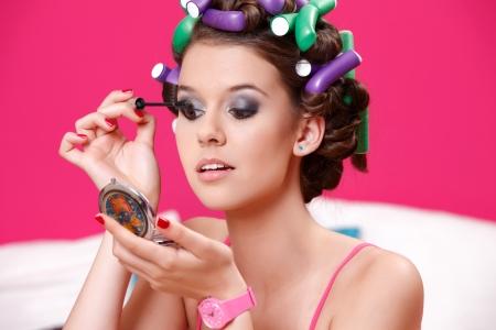 nice make up on beautiful girl Stock Photo - 14013948