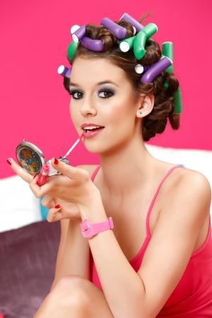 perfekte Make Up für die Party ist bereit