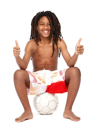young rasta teenager posing in studio Stock Photo