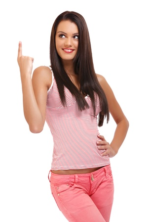 cute teenager posing on white background Stock Photo - 16660608