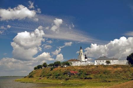 The city of Svijazhsk.The Uspensko-Bogoroditsky man's monastery Stockfoto