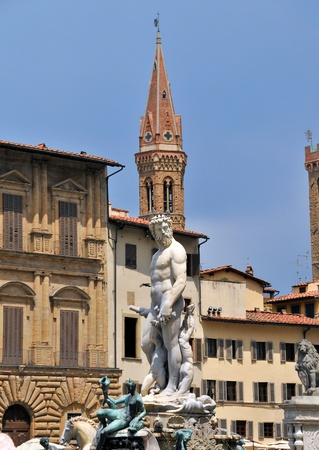 Florence. Italy. A fountain Neptune Stock Photo