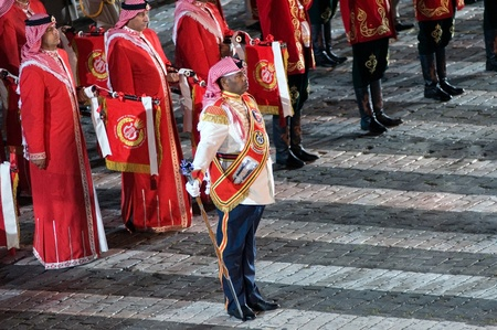 spassky: Russia, Moscow, Red Square, September 4, 2010., mezhdunrodny military music festival Spassky Tower Band of Police of the Kingdom of Bahrain (Bahrain Police Band)