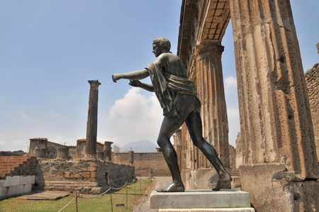 Apollo God, Pompeii.  Stockfoto