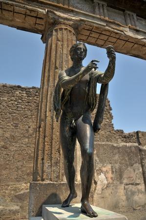 Apollo God, Pompeii. Reklamní fotografie - 9578604