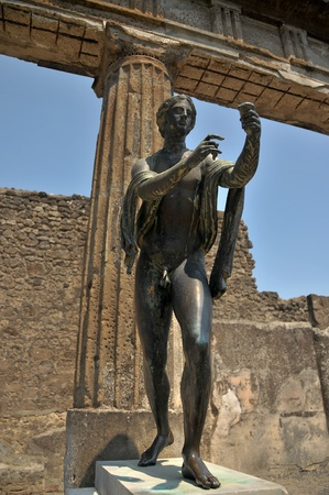 Apollo God, Pompeii.  Stock Photo