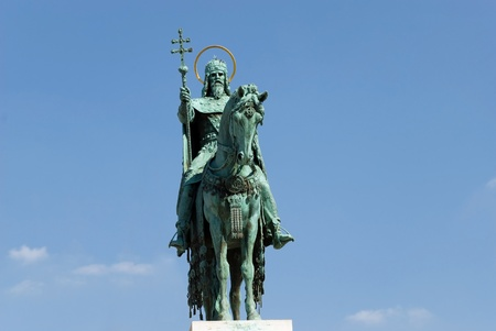 Statue of St. Stephen, Budapest Stockfoto