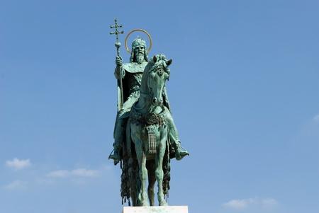 Statue of St. Stephen, Budapest Reklamní fotografie - 9905337