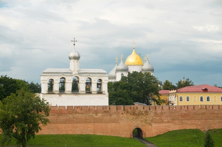 Monument of the 15th-17th centuries and a St. Sophia Cathedral in the Kremlin, Velikiy Novgorod,Russia