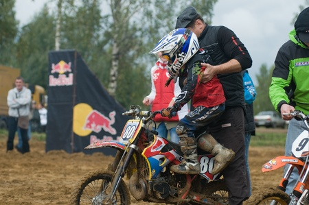motorsprot: MOSCOW-SEPTEMBER 10: Cup XSR-MOTO.RU Cross Country in 2011Stage III September 10, 2011. Moscow, Sheremetyevo route  Editorial
