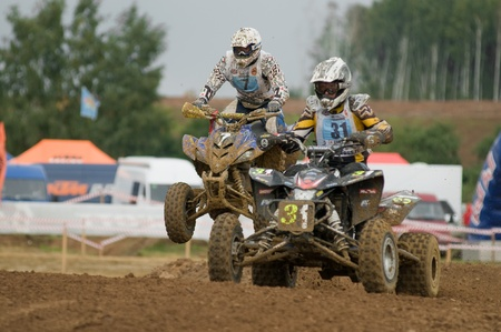 MOSCOW-SEPTEMBER 10: Cup XSR-MOTO.RU Cross Country in 2011Stage III September 10, 2011. Moscow, Sheremetyevo route