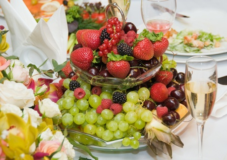 Fruit on the festive table