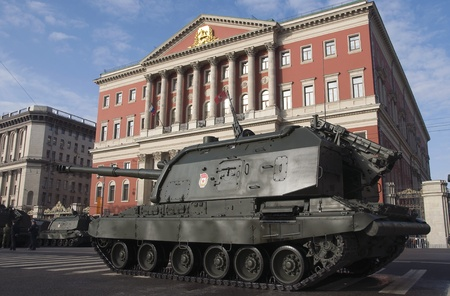 a rehearsal: Moscow Victory Day parade rehearsal