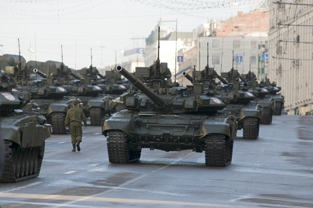 rehearsal: Moscow Victory Day parade rehearsal