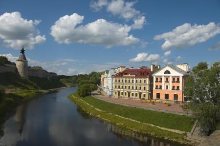 bygone days: Summer day in Pskov. Russia