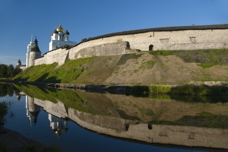 Pskov. Kremlin at sunrise
