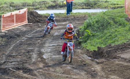 motorsprot: MOSCOW-SEPTEMBER 8: Virlan Jan (Dzerzhinsk) in the Stage III Cup XSR-MOTO.RU Cross Country in Moscow, Sheremetyevo, motostadion  Editorial