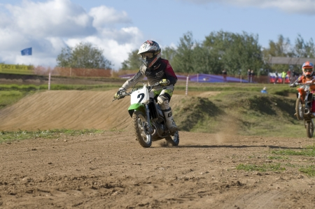 motorsprot: MOSCOW-SEPTEMBER 8: Ilya Kolchugin (Istra) in the Stage III Cup XSR-MOTO.RU Cross Country in Moscow, Sheremetyevo, motostadion