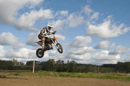 MOSCOW-SEPTEMBER 8: Igor Smirnov (RRG-MOTO) in the Stage III Cup XSR-MOTO.RU Cross Country in Moscow, Sheremetyevo, motostadion