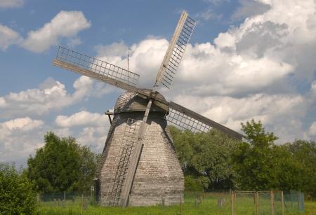 xx century: Mill beginning of XX century Stock Photo